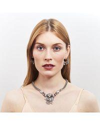 DANNIJO - Metallic Denman Crystal Hoop Earrings - Lyst