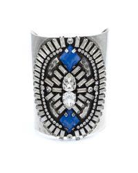 DANNIJO - Metallic Oakli Crystal Cuff Bracelet - Lyst