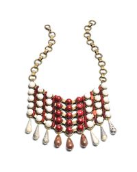 DANNIJO - Brown Beaded Bib Necklace - Lyst