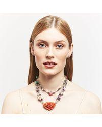 DANNIJO - Caroll Multicolor Crystal & Rose Motif Necklace - Lyst