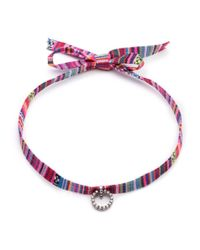DANNIJO - Red Sabra Striped Choker Necklace - Lyst