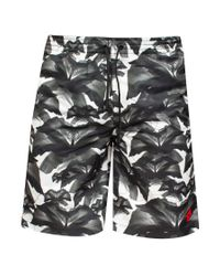Marcelo Burlon - Gray 'grey Flowers' Swim Shorts for Men - Lyst