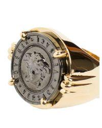 Versace - Metallic 'medusa' Ring - Lyst