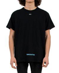 Off-White c/o Virgil Abloh - Black 'diag Temperature' T-shirt for Men - Lyst
