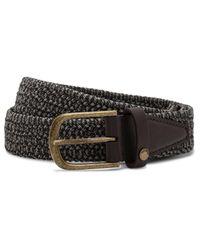 Ted Baker - Gray Core Elastic Colour Belt for Men - Lyst