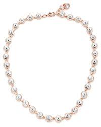 Ted Baker   Metallic Rosele: Rivoli Crystal Single Row Necklace   Lyst