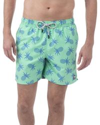 Tom & Teddy | Green Pineapple Swimshort for Men | Lyst