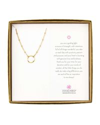 Dogeared | Metallic Beaded Chain With Karma Circle Boxed Reminder Necklace | Lyst