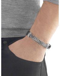 John Hardy - Black Woven Leather Bracelet for Men - Lyst