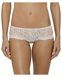 Calvin Klein | Brown Sheer Marq W Lace Hipster | Lyst