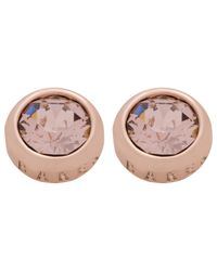Ted Baker - Pink Sina: Crystal Stud Earring - Lyst