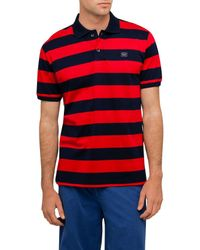 Paul & Shark - Red Striped Cotton Piqué Polo for Men - Lyst