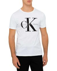 Calvin Klein | White Re-issue Logo T-shirt for Men | Lyst