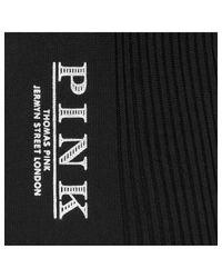Thomas Pink - Black Heel & Toe Cotton Socks for Men - Lyst