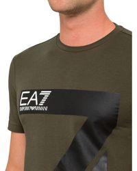 Emporio Armani - Green Logo Tee for Men - Lyst
