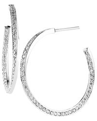 Jan Logan | Metallic 18ct Diamond Illusion Hoop Earrings | Lyst
