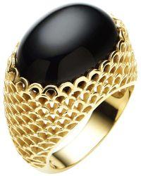 Jan Logan - Metallic 9ct Oval Onyx Gaudi Ring - Lyst