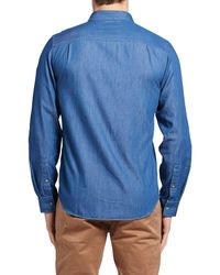 The Academy Brand - Blue Thomas Shirt for Men - Lyst
