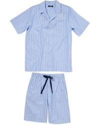 David Jones   Blue Woven Top And Short Set   Lyst