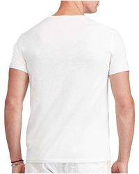 Polo Ralph Lauren | White Custom Fit Cotton T-shirt for Men | Lyst