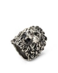 Gucci - Multicolor Lion Head Ring - Lyst