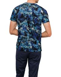 Ted Baker   Blue Printed Camo Tee for Men   Lyst