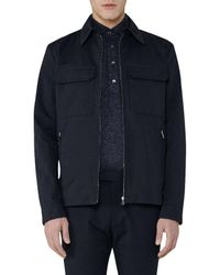 Reiss - Blue Casablanca Cotton Pocket Jacket for Men - Lyst