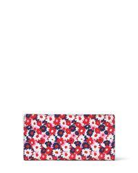 Michael Kors - Red Carnation Slim Wallet - Lyst