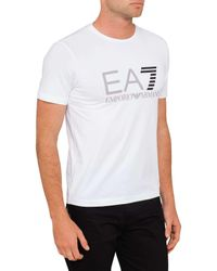 Emporio Armani - White Logo Tee for Men - Lyst