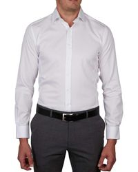 Geoffrey Beene - White Algonquin Pique Body Fit Shirt for Men - Lyst