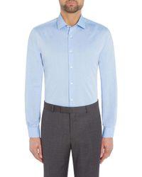 Richard James - Blue Diamond Dobby Slim Fit Shirt for Men - Lyst