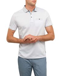 Ted Baker - Gray All Over Printed Polo for Men - Lyst