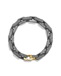 David Yurman - Metallic Meteorite Link Bracelet With 18k Gold for Men - Lyst