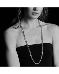 David Yurman - Metallic Four-row Chain Necklace With Pearls - Lyst