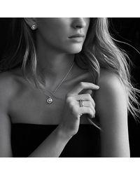David Yurman - White Crossover® Pearl Pendant Necklace With Diamonds - Lyst