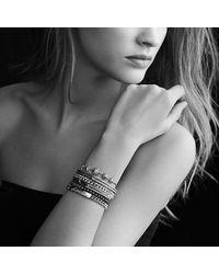David Yurman - Metallic Petite Pavé Labyrinth Mini Loop Bracelet With Blue Sapphires - Lyst