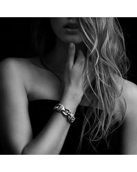 David Yurman - Metallic Buckle Single-row Bracelet With 18k Gold, 19mm - Lyst