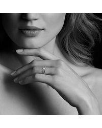 David Yurman - Metallic Continuance® Band Ring With Diamonds In 18k Gold, 6.5mm - Lyst