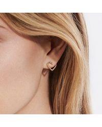David Yurman - Metallic Cable Heart Earring In 18k Gold - Lyst