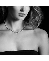 David Yurman | Metallic Venetian Quatrefoil Chain Necklace With Diamonds In 18k Rose Gold | Lyst