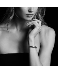 David Yurman - Metallic Pure Form® Mixed Metal Smooth Bracelet With Bronze And Silver, 9.5mm - Lyst