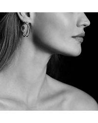 David Yurman - Metallic Crossover Hoop Earrings With 14k Gold - Lyst