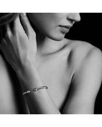 David Yurman - Metallic Cable Classic Bracelet With Black Diamonds, 5mm - Lyst