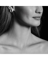David Yurman - Albion® Earrings With Black Orchid And Diamonds, 11mm - Lyst