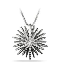 David Yurman - Metallic Starburst Large Pendant Necklace With Diamonds, 37mm - Lyst