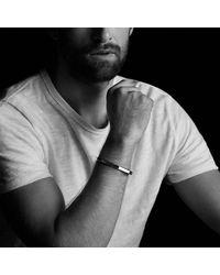 David Yurman - Metallic Faceted Metal Cuff Bracelet - Lyst