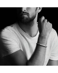 David Yurman - Red Chevron Id Bracelet With Tiger's Eye for Men - Lyst