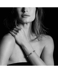 David Yurman - Metallic Renaissance Bracelet With Diamonds In Silver, 5mm - Lyst