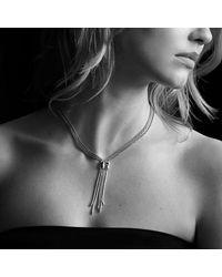 David Yurman - Metallic Confetti Drop Necklace With Diamonds - Lyst