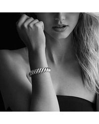 David Yurman - Metallic Hampton Cable Bracelet, 14mm - Lyst